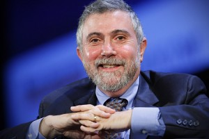 Nobel Prize winning economist Paul Krugman smiles during the World Business Forum in New York
